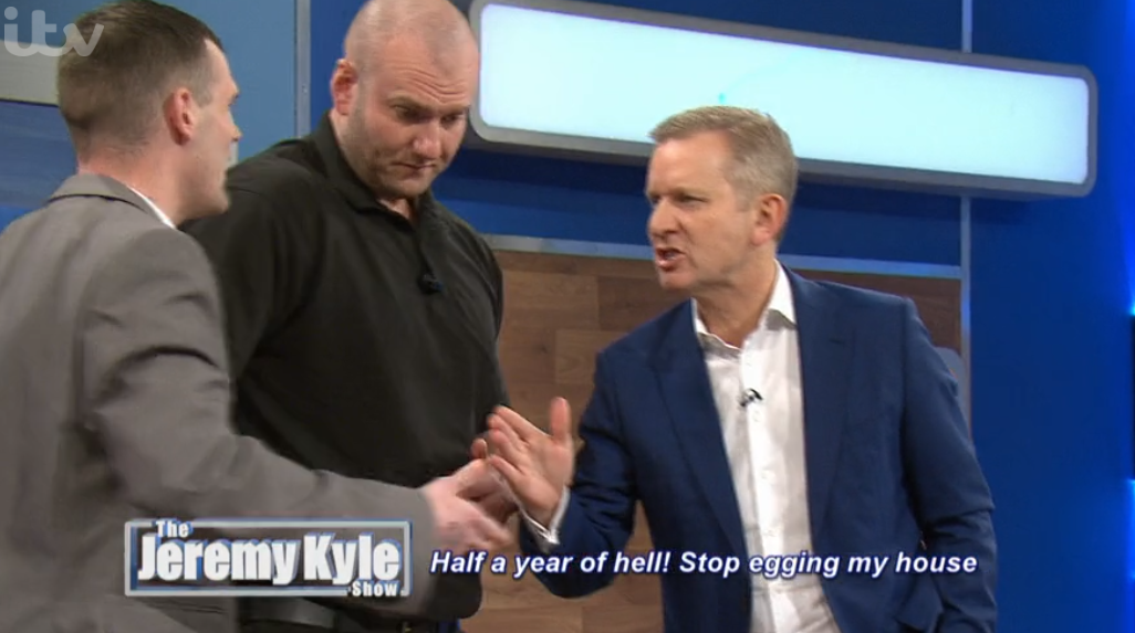 Furious Jeremy Kyle throws guests off stage after huge bust-up