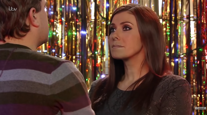Corrie Michelle proposes to Steve Credit: ITV/YouTube