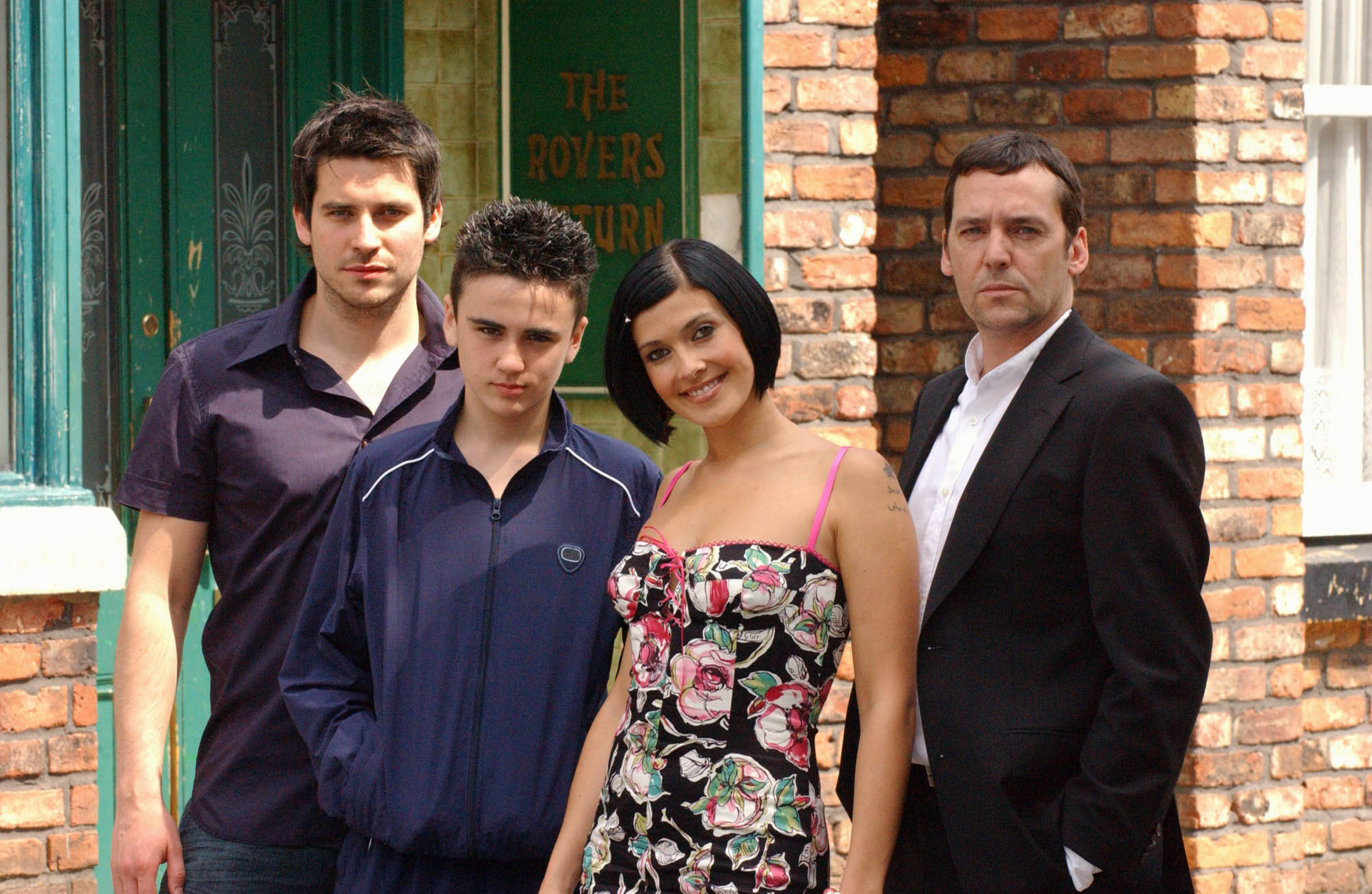 Editorial use only. Exclusive - Premium Rates Apply. Call your Account Manager for pricing. Mandatory Credit: Photo by ITV/REX/Shutterstock (801732lb) 'Coronation Street' TV - 2006 - The Connor Family Liam Connor (Rob James-Collier) Ryan Connor (Ben Thompson) Michelle Connor (Kym Ryder) Paul Connor (Sean Gallagher-Jacket). ITV ARCHIVE