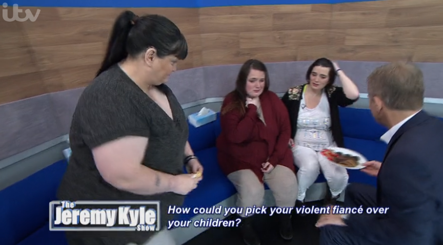 Jeremy Kyle fans horrified as host comforts sobbing domestic violence victim with biscuits