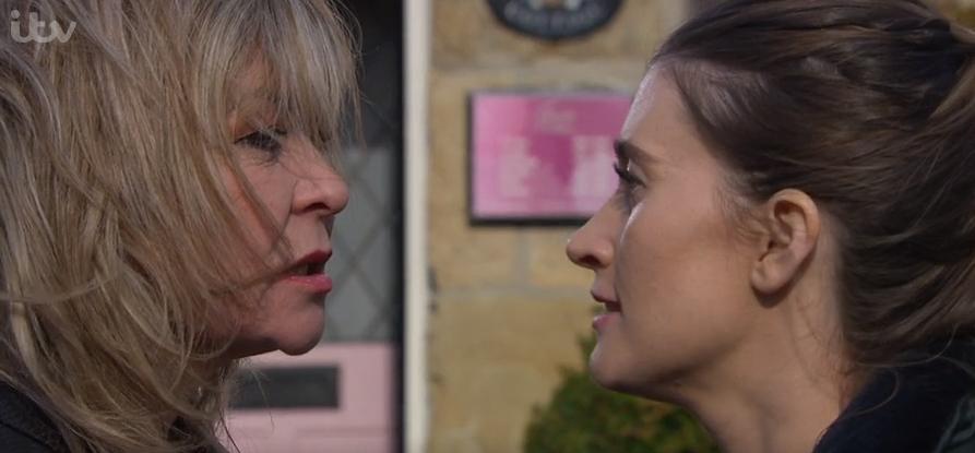 Emmerdale viewers cheer on Debbie as she attacks Kim Tate