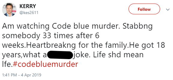 Code Blue: Murder viewers outraged at