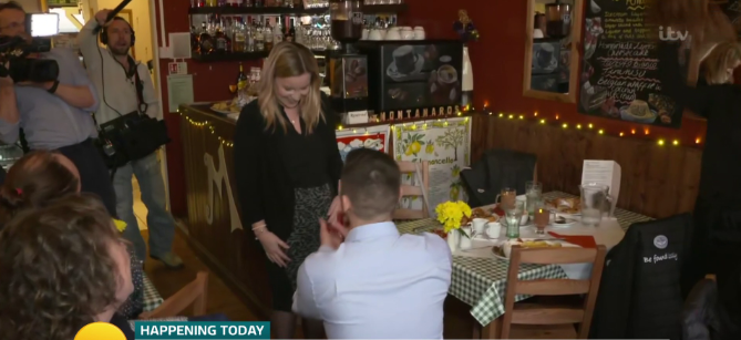GMB viewers cringe as man proposes to partner for a second time live on air