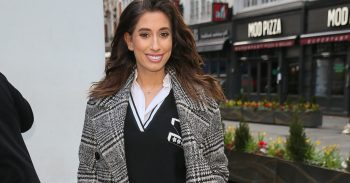 Pregnant Stacey Solomon arriving at Global Studios to promote her new book 'Happily Imperfect' on Heart Radio - London Pictured: Stacey Solomon Ref: SPL5069475 040319 NON-EXCLUSIVE Picture by: SplashNews.com Splash News and Pictures Los Angeles: 310-821-2666 New York: 212-619-2666 London: 0207 644 7656 Milan: 02 4399 8577 photodesk@splashnews.com World Rights
