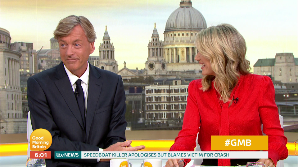 Richard Madeley apologises after swearing live on GMB