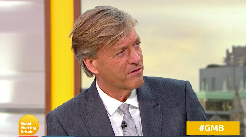 Richard Madeley apologises for his 'Trump tan' on GMB