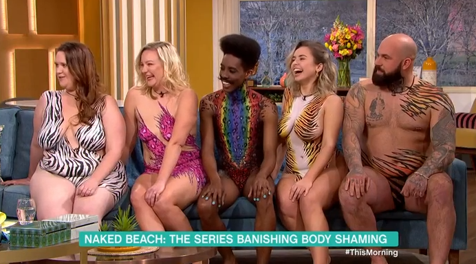This Morning fans horrified as naked guests let it all hang loose on sofa