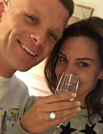 Danielle Lloyd and fiance Michael