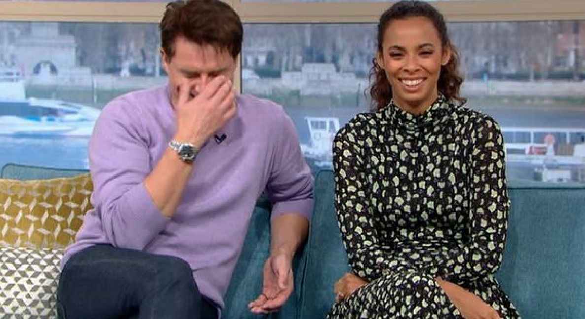 John Barrowman gives This Morning co-host and crew the giggles after accidental innuendo