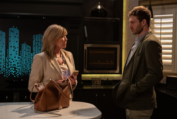 Emmerdale's Claire King loves working with Alexander Lincoln because of his height