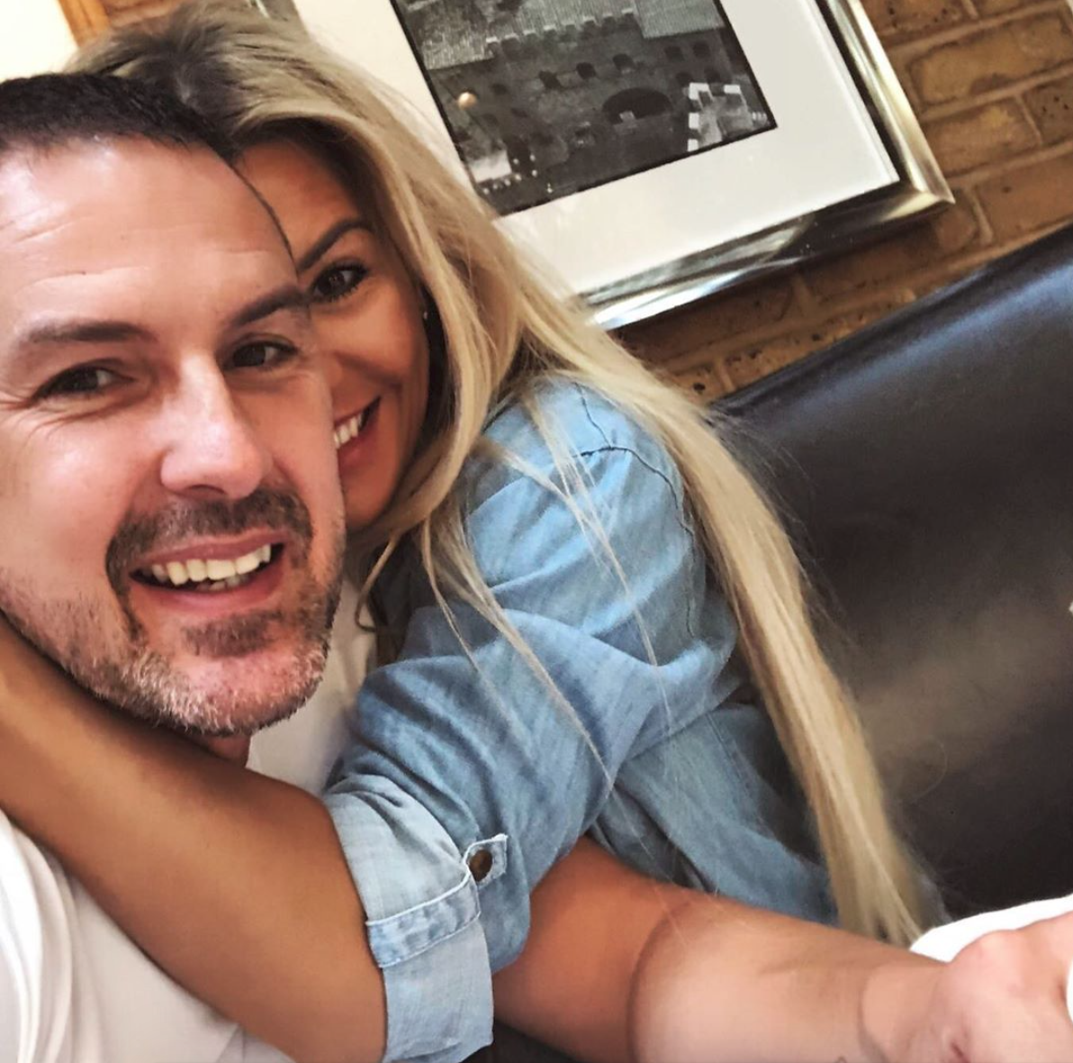 Paddy and Christine McGuinness cuddle
