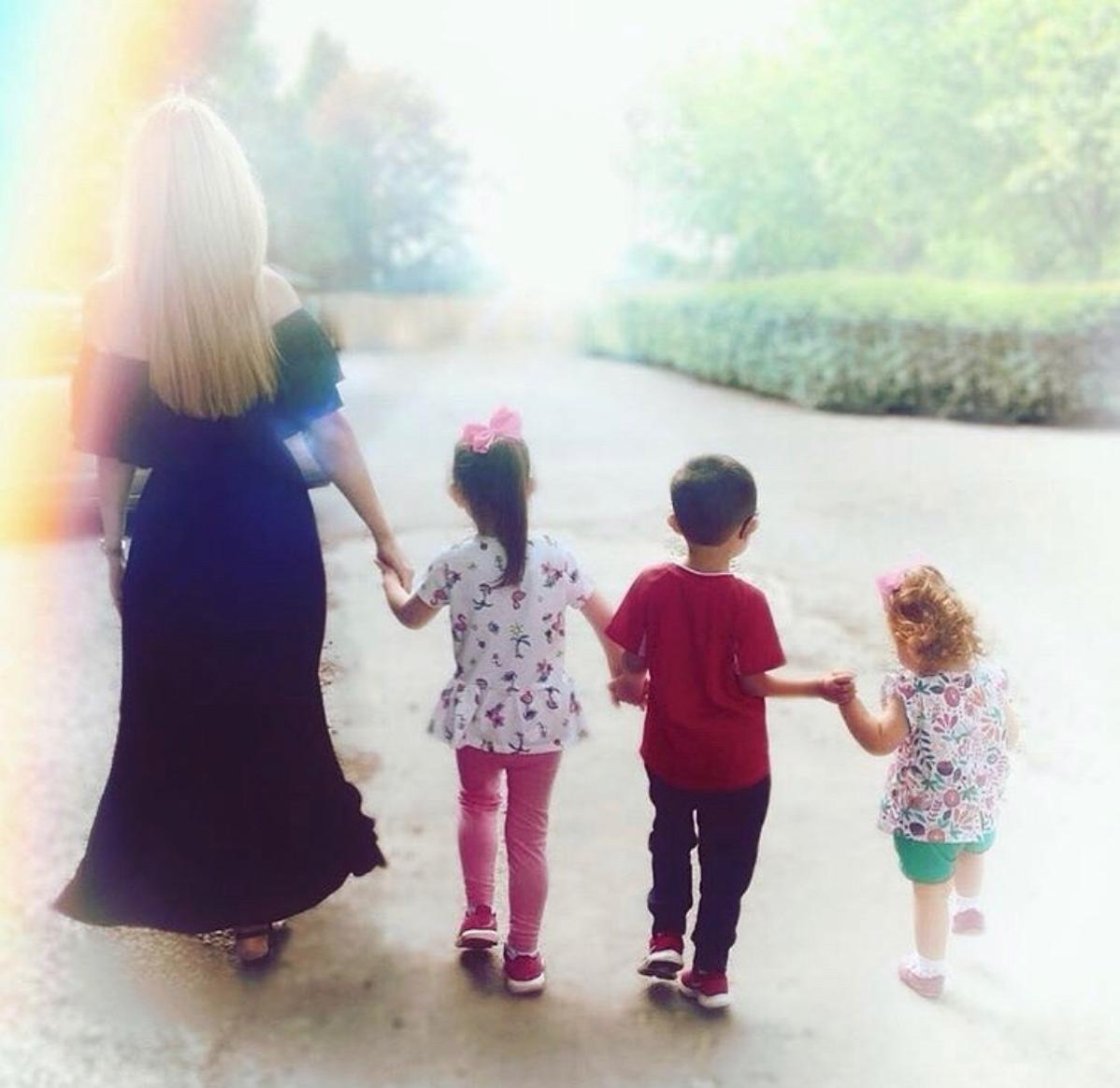 Christine McGuinness and her kids