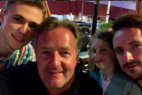 Piers Morgan followers blown away by son Stanley's topless photo