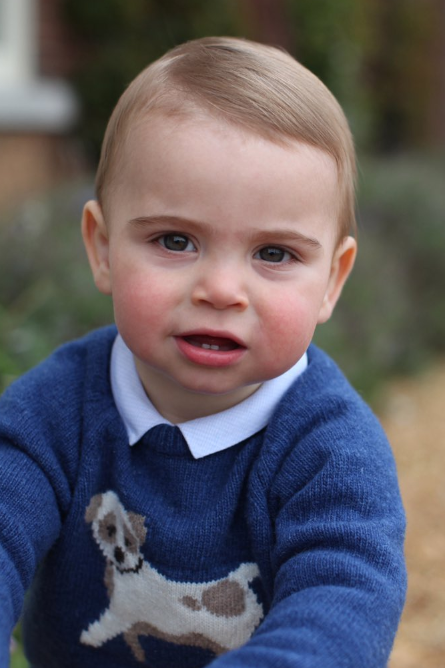 Official pics of Prince Louis on his first birthday