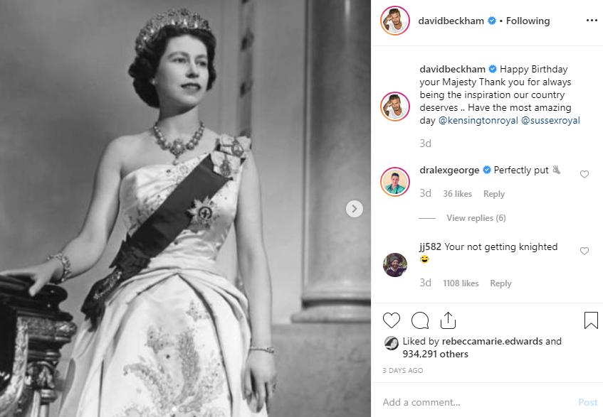 The Queen - David B insta