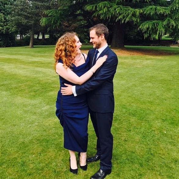 Jennie McAlpine and husband Chris Farr