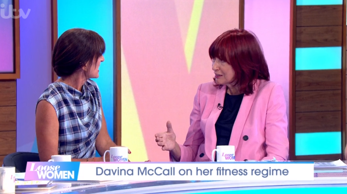 Davina McCall and Janet SP on LW