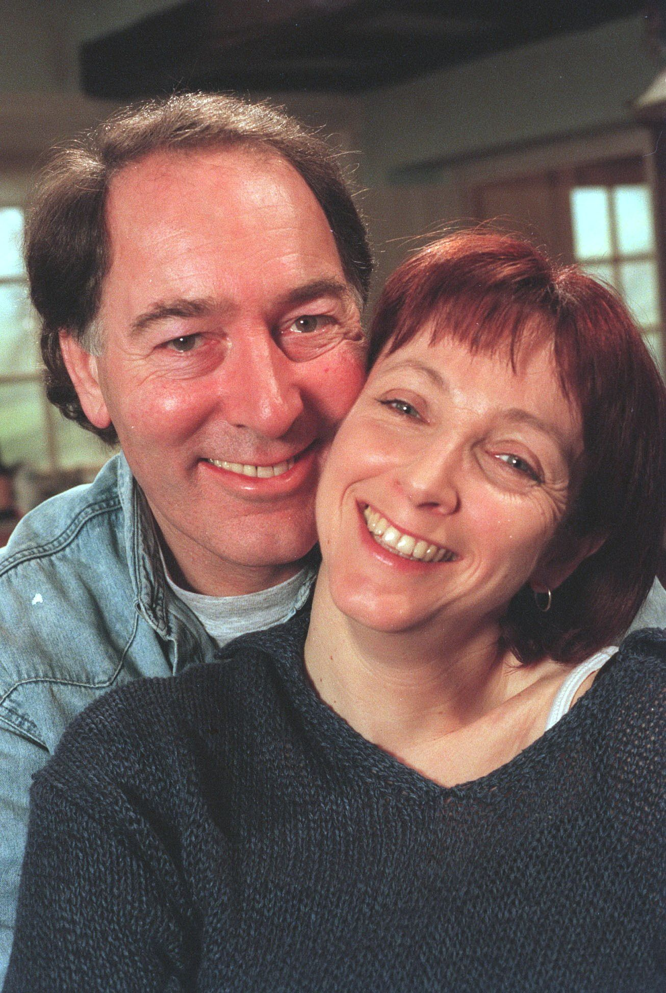 Editorial use only Mandatory Credit: Photo by ITV/REX/Shutterstock (673498qx) 'Emmerdale' TV - 2000 Jack (Clive Hornby) and Sarah Sugden (Alyson Spiro) ITV ARCHIVE
