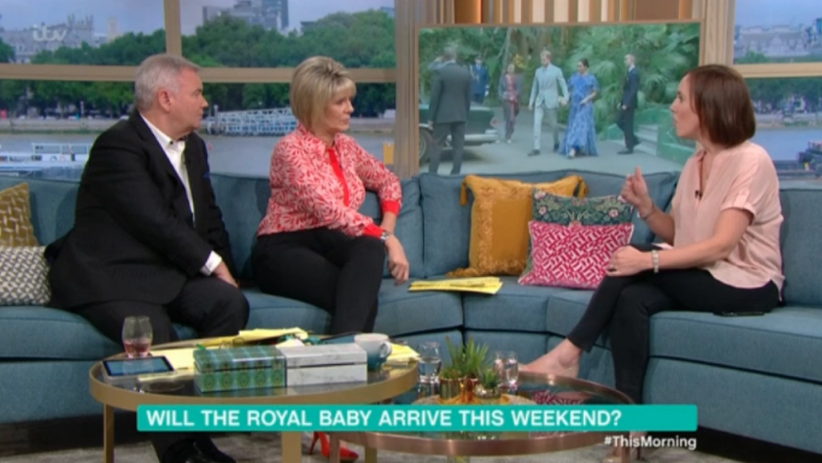 Eamonn and Ruth with royal correspondent on This Morning