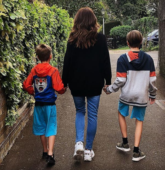 Stacey Solomon with her two sons