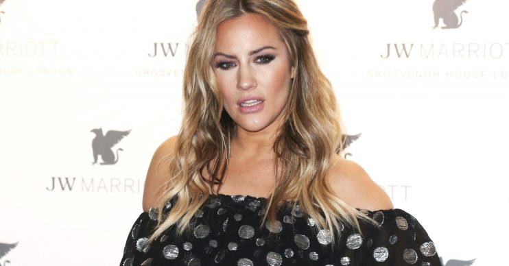 Celebrities attend the JW Marriott Grosvenor House 90th Anniversary Party in London Pictured: Caroline Flack Ref: SPL5084821 300419 NON-EXCLUSIVE Picture by: Brett D. Cove / SplashNews.com Splash News and Pictures Los Angeles: 310-821-2666 New York: 212-619-2666 London: 0207 644 7656 Milan: 02 4399 8577 photodesk@splashnews.com World Rights