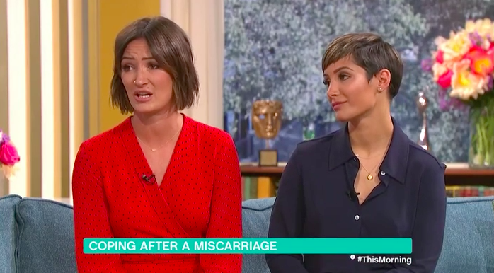 Frankie Bridge and sister on This Morning