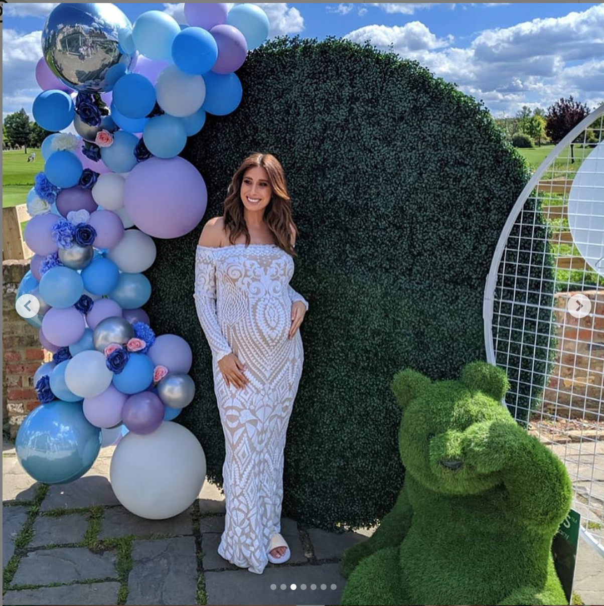 Loose Women star at her baby shower in Essex