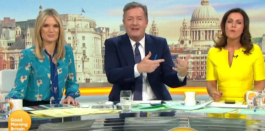 Piers Morgan accidentally 'swears' during row with Susanna Reid