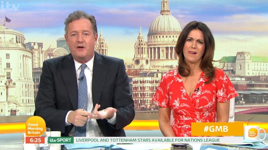 "Piers Morgan says that sober Susanna Reid is ""boring"""