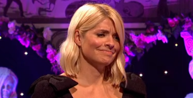Holly Willoughby 'topless' in X-rated Celebrity Juice game