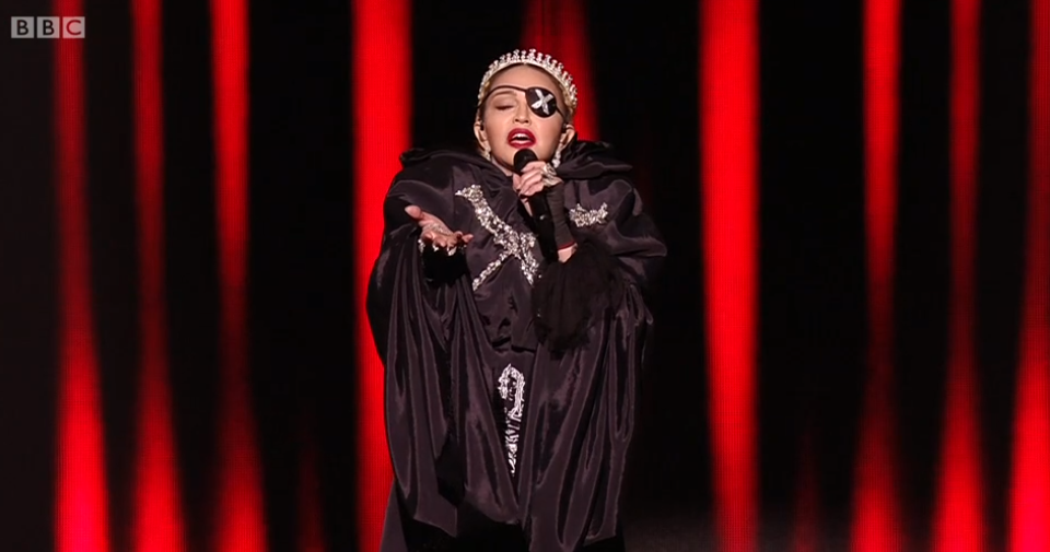 Madonna's Eurovision performance divides viewers