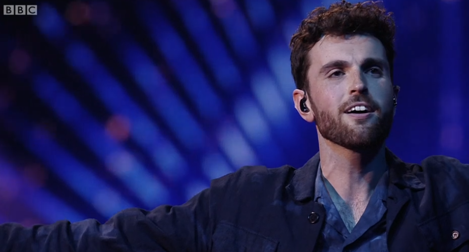 Duncan Laurence Eurovision winner Credit: BBC