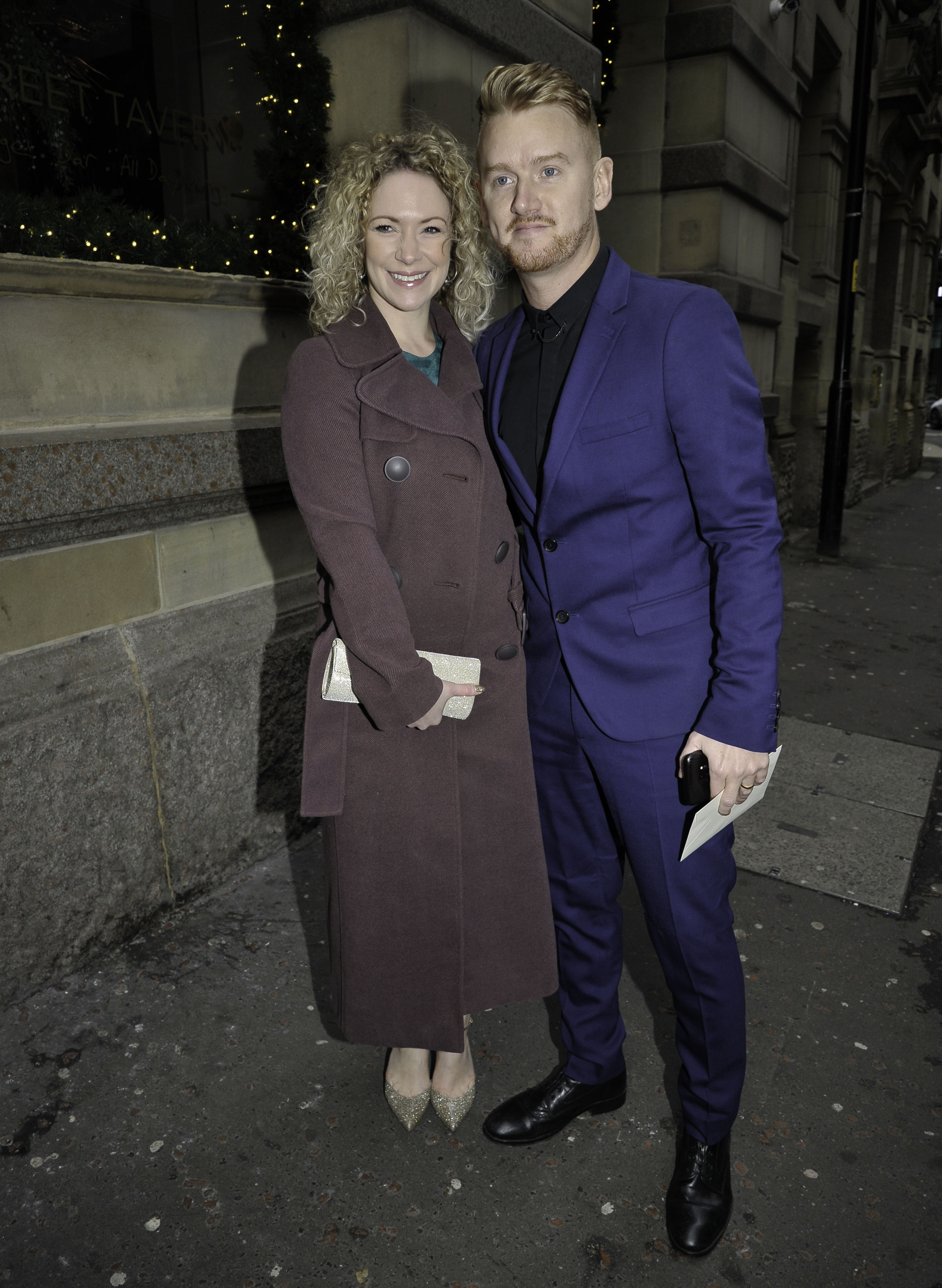 Coronation Street cast pictured arriving at Tina O'Brien wedding in Manchester City Centre. Pictured: Mikey North Ref: SPL5052162 311218 NON-EXCLUSIVE Picture by: Aaron Parfitt / SplashNews.com Splash News and Pictures Los Angeles: 310-821-2666 New York: 212-619-2666 London: 0207 644 7656 Milan: 02 4399 8577 photodesk@splashnews.com World Rights