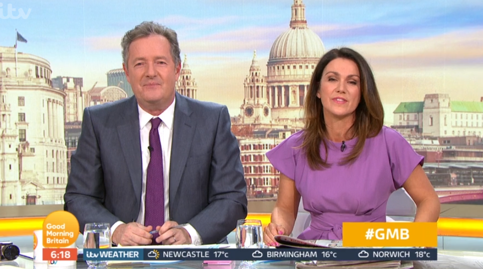 GMB fans gutted as Piers Morgan and Susanna Reid announce they're off AGAIN next week
