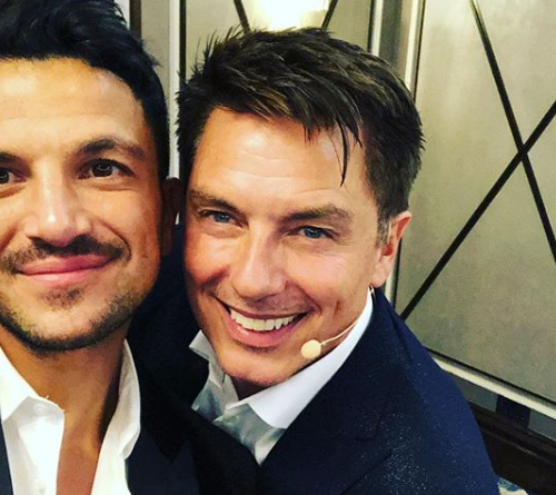 Peter Andre and John Barrowman on Instagram