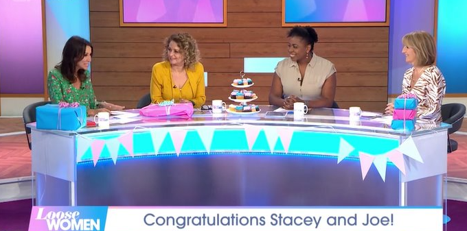 Loose Women throw Stacey Solomon's baby shower as her sister reveals birth details