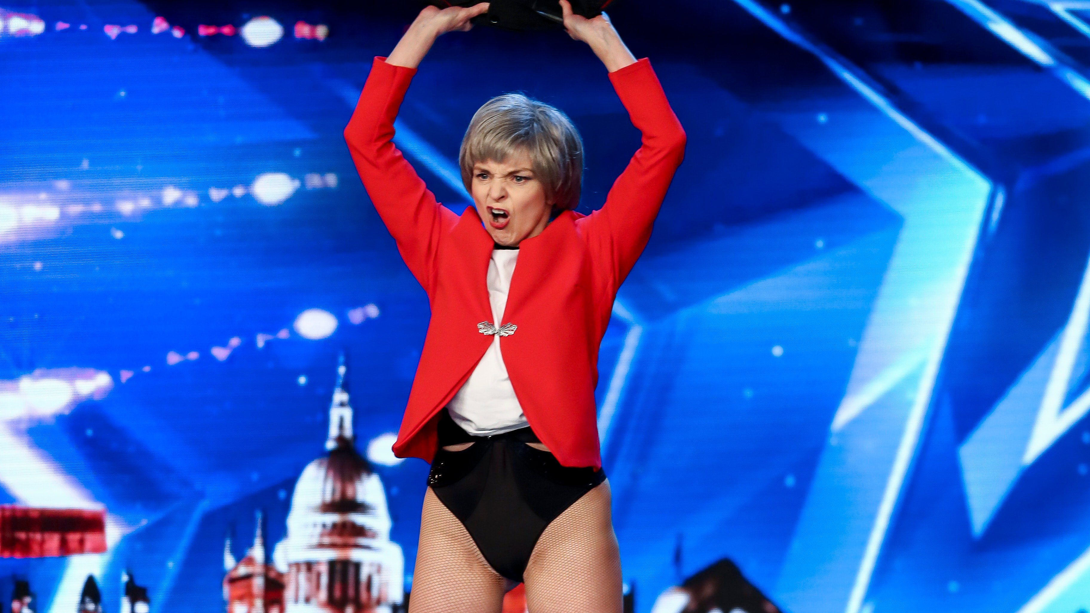 Everyone is making the same joke about Theresa May lookalike on BGT