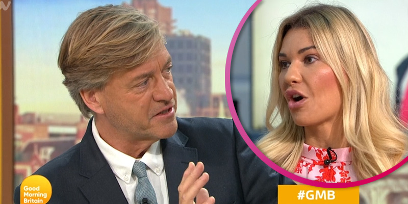 Richard Madeley clashes with Christine McGuinness over kissing debate