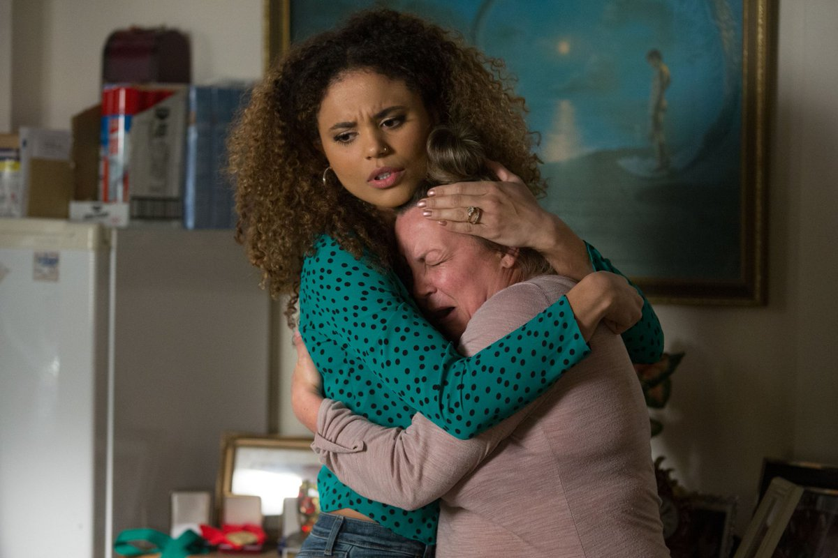 EastEnders fans 'broken' by Karen's tears after Riley and Chatham attack