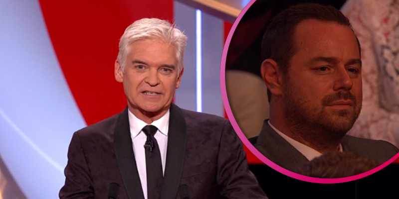 Fans thinks Danny Dyer was unimpressed with Phillip Schofield's awkward joke about him at Soap Awards