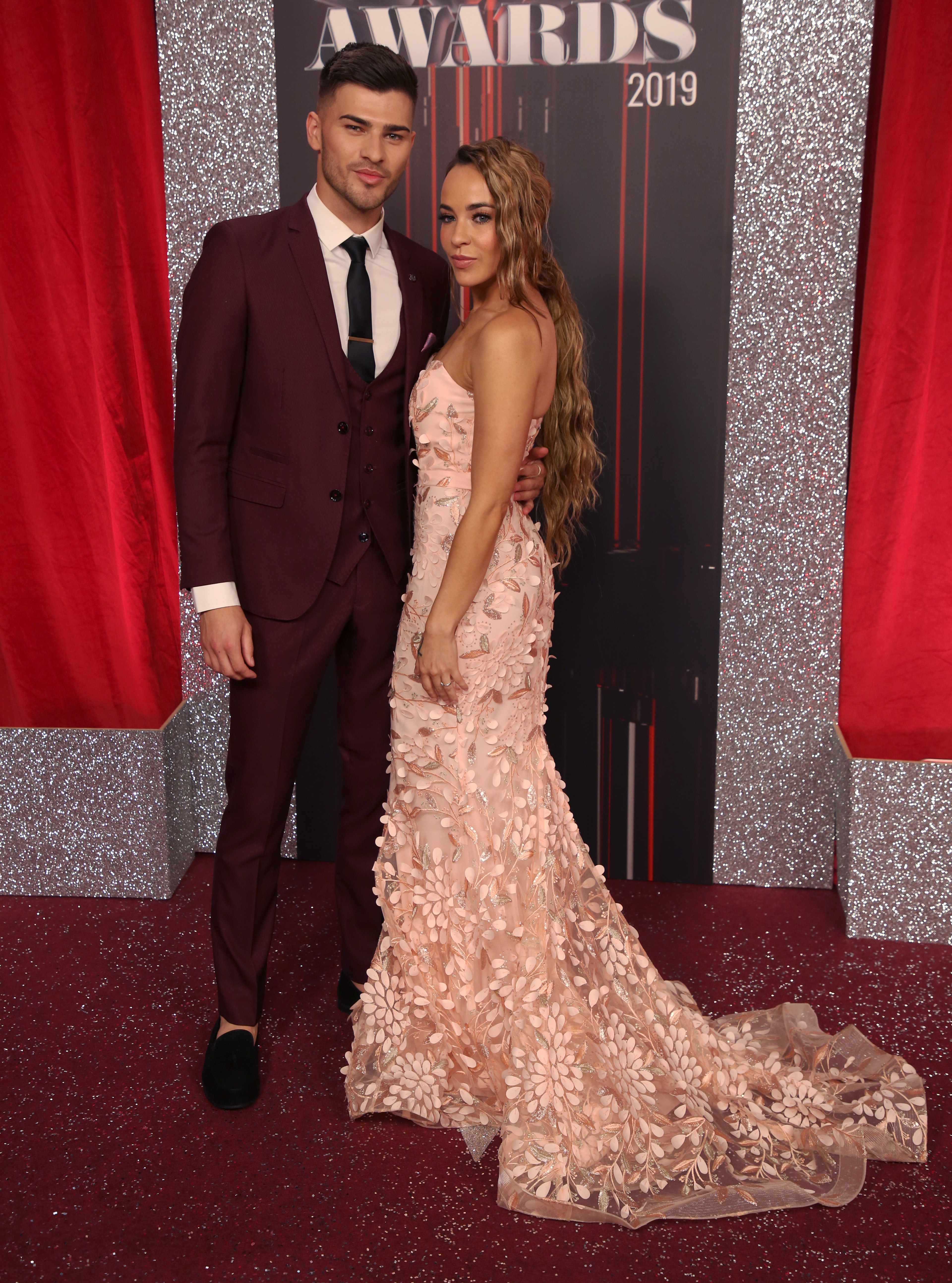 Stars attend the British Soap Awards 2019 at The Lowry in Manchester Pictured: Owen Warner,Stephanie Davis Ref: SPL5094911 010619 NON-EXCLUSIVE Picture by: SplashNews.com Splash News and Pictures Los Angeles: 310-821-2666 New York: 212-619-2666 London: 0207 644 7656 Milan: 02 4399 8577 photodesk@splashnews.com World Rights