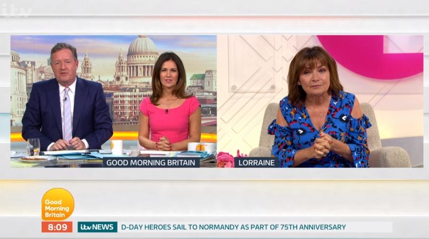 Piers Morgan mocks Lorraine Kelly's 'wooden' acting in Coronation Street cameo