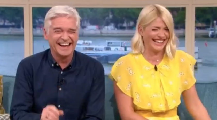 Hysterical Holly Willoughby unable to speak on This Morning after rude slip-up
