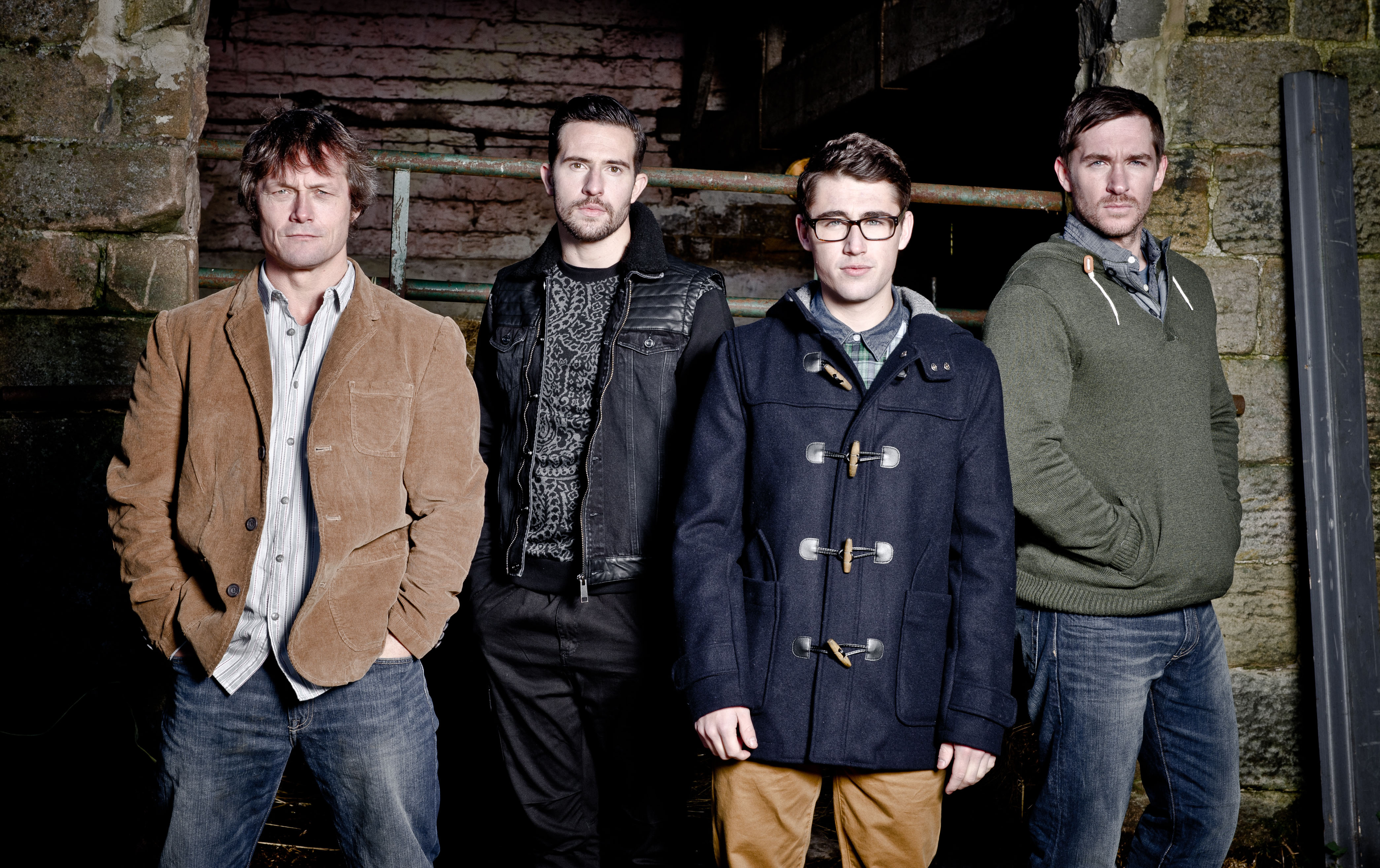Editorial use only Mandatory Credit: Photo by ITV/Shutterstock (3749812t) The Bartons - James Barton [Bill Ward] Ross Barton [Michael Parr] Finn [Joe Gill] Peter [Anthony Quinlan] 'Emmerdale' The Barton Family - TV Programme. - 04 Nov 2013