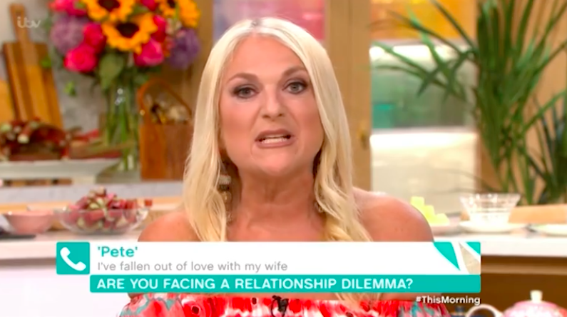 This Morning's Vanessa Feltz rages at caller who says he was 'forced to cheat on his wife'