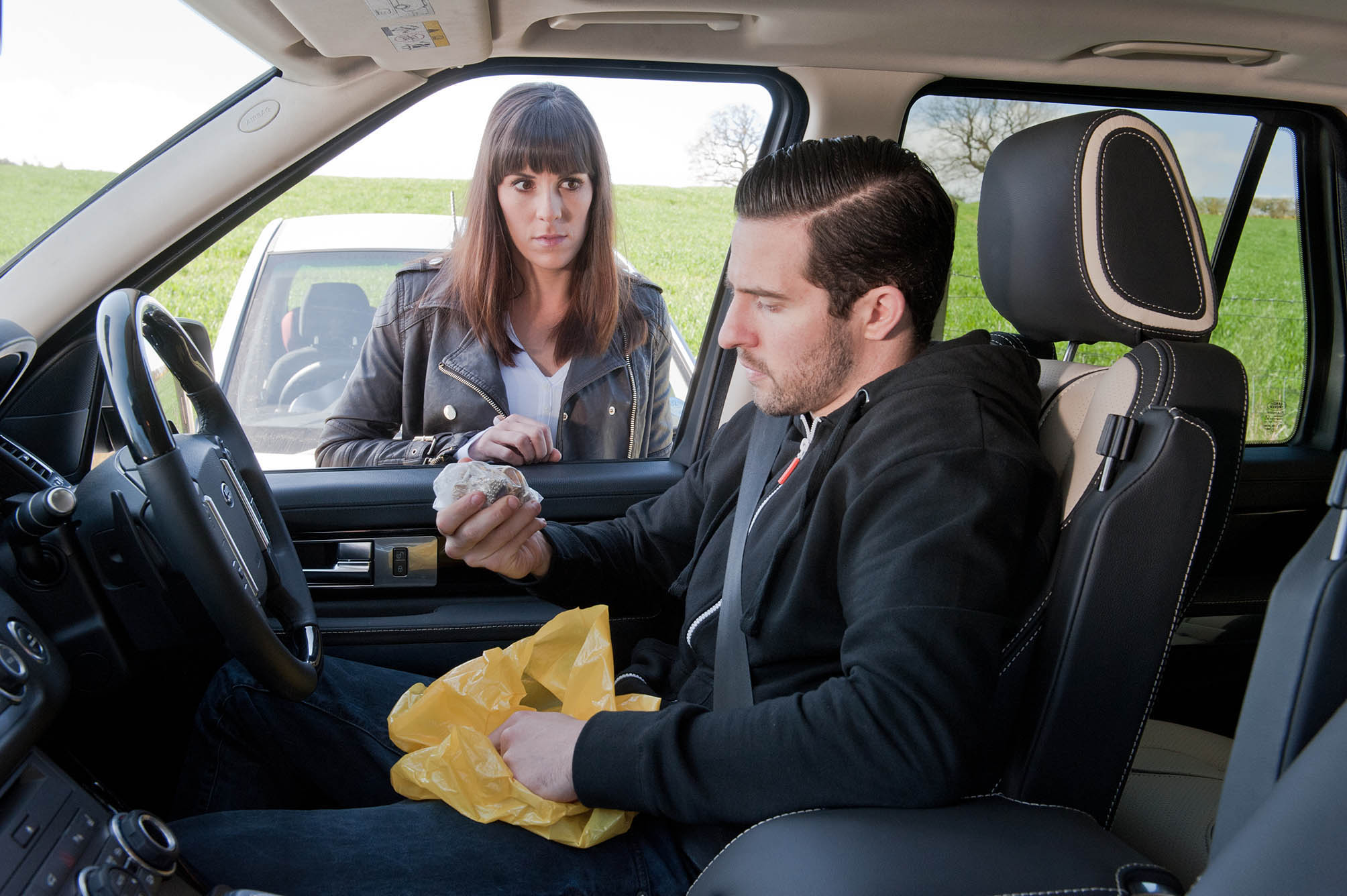 Editorial use only Mandatory Credit: Photo by ITV/Shutterstock (4101937ea) Wanting to get the ball rolling, Donna Windsor [VERITY RUSHWORTH] arranges to meet Ross Barton [MICHAEL PARR] with the stolen goods but the situation leaves her feeling on edge and she snaps at April. Later, having not heard from Ross, Donna goes to see him but is left disappointed with the amount of cash he has received, as it's not what she expected. Left with an ultimatum, will Donna decide to quit or will she start thinking bigger? 'Emmerdale' TV Programme. - 2014 Episode 6879