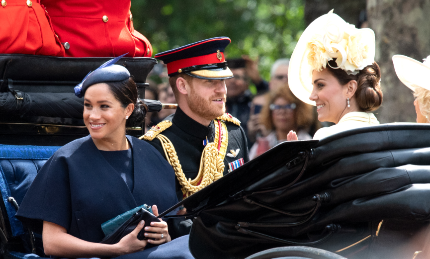 Meghan Markle makes first public appearance in blue since birth at Trooping the Colour