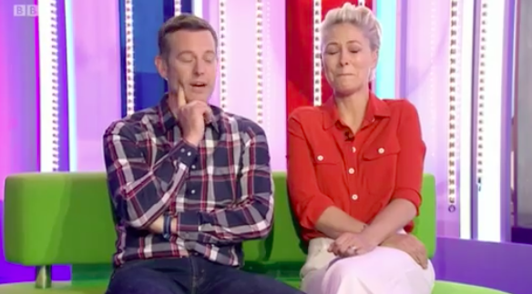 The One Show hosts Matt Baker and Emma Willis forced to apologise as guest swears