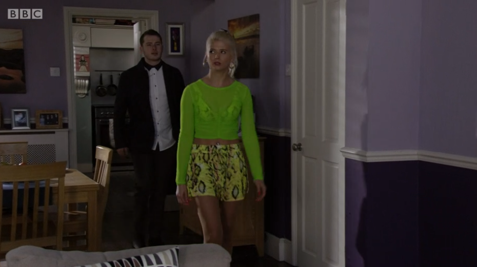 Lola wore a very bright outfit last night (Credit: BBC iPlayer)