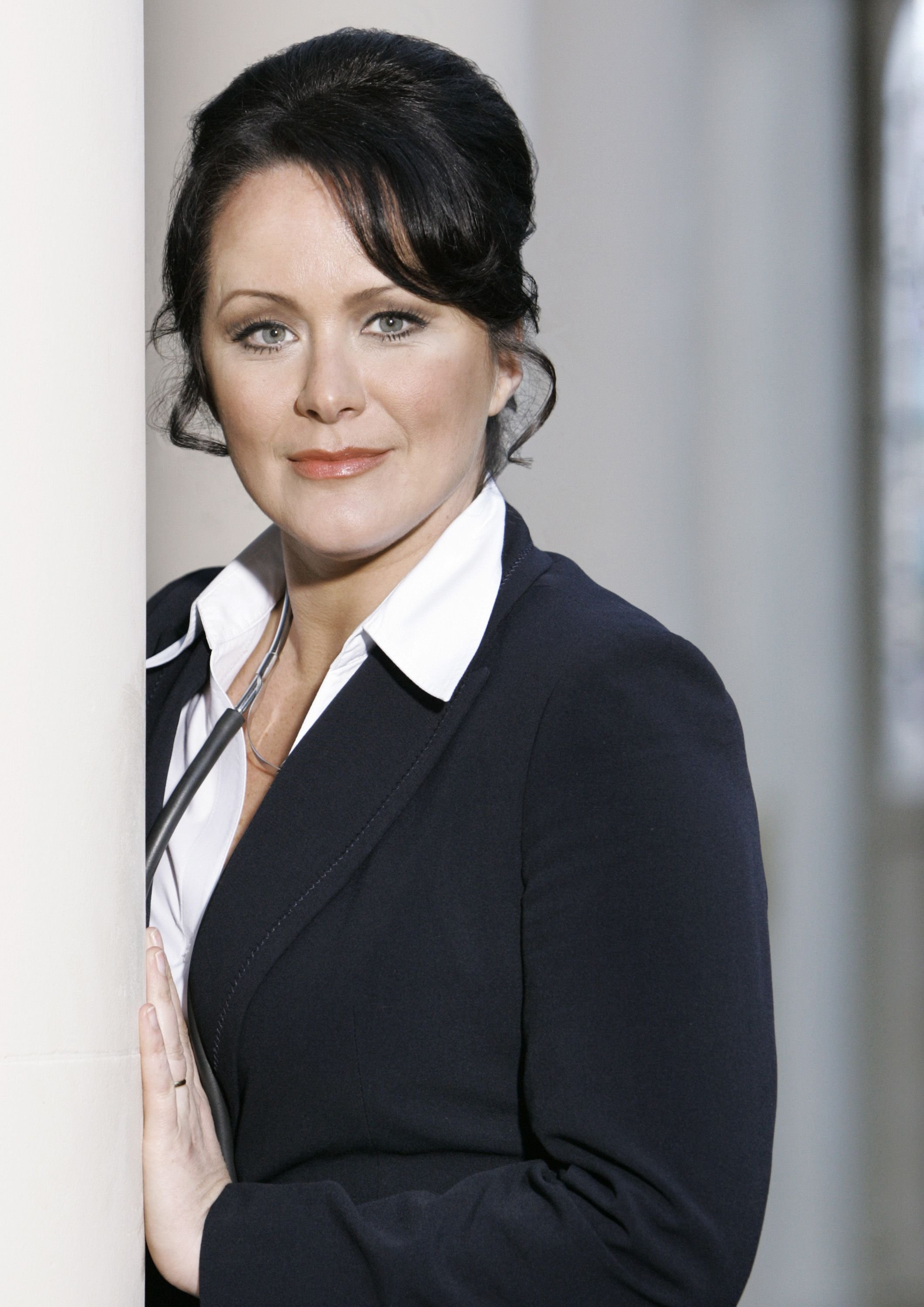 Editorial use only Mandatory Credit: Photo by ITV/Shutterstock (1471661c) Amy Robbins as Dr Jill Weatherill 'The Royal' TV Programme, Series 8. - 2011 Episode : Manoevers. The series opens with Mr Middleditch (Ian Carmichael) who has come in to St Aidan's hospital, accompanied by his wife, for a routine operation. Noticing that Mrs Middleditch (Susan Hampshire) looks unwell, the hospital decides to give her a blood transfusion. Distracted by the attentions of a rich divorced playboy, who has promised to marry her, Susie Dixon (Sarah Beck Mather) administers the wrong blood, which later results in serious consequences for both her and the patient. Dr Weatherill (Amy Robbins) manages to save Mrs Middleditch's life, although it's touch and go for a time.